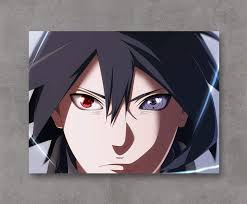 Amazon.com: UETECH Canvas Prints Naruto Sasuke Different Eyes Stretched and  Framed Ready to Hang 36x24 Inch: Posters & Prints