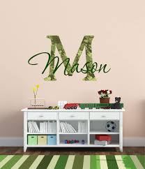 Amazon Com Camouflage Boys Name Wall Decal Hunting Decals Fishing Decals Deer Decals Kids Room Decals Nursery Decals Playroom Decals Boys F14 Home Kitchen