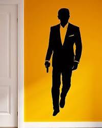 Wall Sticker Vinyl Decal James Bond 007 Secret Agent Cia Fbi Decor Z1033 Ebay