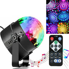Disco Ball Disco Lights Party Lights Sound Activated Storbe Light With Remote Control Dj Lighting Led 3w Rgb Light Ball Dance Lightshow For Home Room Parties Kids Birthday Wedding Show Club Pub Walmart Com