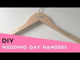 How To Apply Vinyl Stickers To Hangers Wedding Hangers Wedding Diy Bridesmaid Gift Diy Youtube