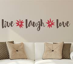 Gracie Oaks Live Laugh Love Flowers Wall Decal Reviews Wayfair