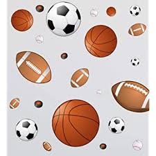 Amazon Com 3d Rugby Football Basketball Volleyball Soccer Ball Wall Decals Stickers Wall Stickers Decals Wall Decor Decals Wall Decor Sports Decals Wall Murals Decoration Decor Poster Nursery Football Decal Home Kitchen