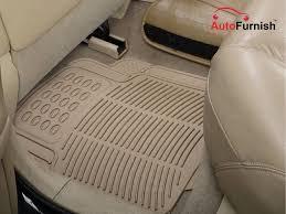 car foot mats beige set of 4 for