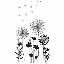 Vinyl Adhesive Roll Wall Decal Flower And Dandelion American Crafts