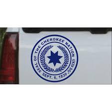 Seal Of The Cherokee Nation Decal Car Or Truck Window Decal Sticker Walmart Com Walmart Com
