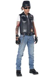 kid s cool kid biker vest costume