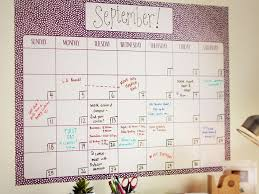 Dry Erase Calendar Wall Decal Hgtv