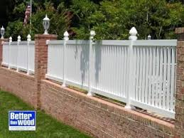 Brick Picket Fence 05 Backyard Fences Brick Fence Front Yard Fence