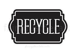 Recycle Decal Trash Can Label Computer Cut Vinyl Decal For Etsy