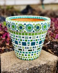 mosaic flower pot mosaic garden pot in