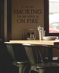Smoking On Fire Wall Decal Trading Phrases