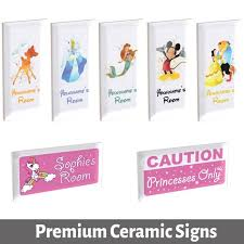 Custom Personalised Bespoke Boys Girls Room Door Sign Plaque Plate On Ceramic