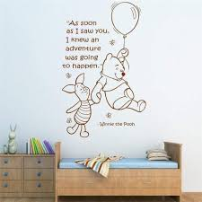 Amazon Com Wovtcp Winnie The Pooh Quote Decal Adventure Time Lettering Wall Decal Sticker Vinyl Balloon Bear Theme Bedroom Nursery Wall Art Home Decor Black Arts Crafts Sewing
