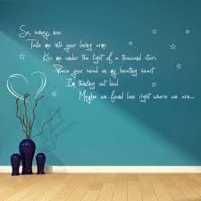 ed sheeran thinking out loud song lyrics verse quote vinyl wall