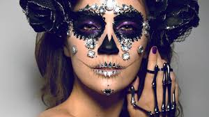 diamond sugar skull makeup tutorial