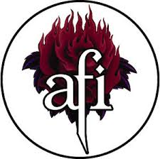 Afi Flame Rose Button At Sticker Shoppe