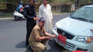 Traffic Fines For Car Stickers Religious Caste Profession Political Party Display