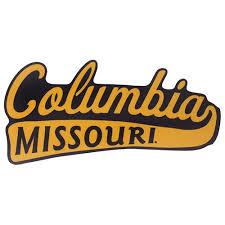The Mizzou Store Columbia Missouri Black Gold Sticker