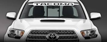 Product Toyota Tacoma Windshield Decal 4x4 Suv Truck Original Front Grill Edition