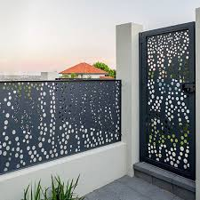 China Modern Laser Cut Aluminum Perforated Fencing And Gates Manufacturers Suppliers Factory Customized Modern Laser Cut Aluminum Perforated Fencing And Gates Keenhai