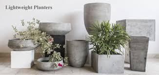 large lightweight concrete pots grc