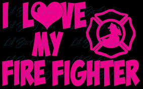 I Love My Fire Fighter Vinyl Car Decal Fire Lilbitolove