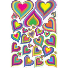 29 Rainbow Heart Wall Decals Stickers Rainbow Nursery Decor On One 18in By 24in Sheet Walmart Com Walmart Com