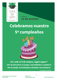 Celebra Con Nosotros El 5º Cumpleanos De Sopa De Sapo