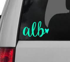 Initials Car Decal Monogram Car Decal Initial Decal Etsy