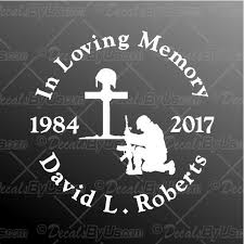 In Memory Soldier Decal In Memory Soldier Car Sticker Low Prices