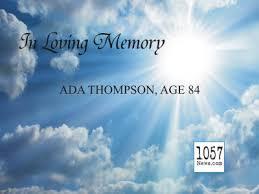 Ada Frank Woody Thompson – 105.7 News Crossville Rockwood Knoxville TN
