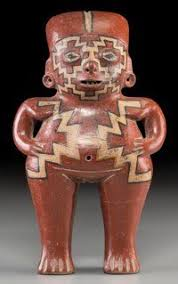 "Chupícuaro standing female figure, c. 400 - 200 B.C., 10"" provenance:  estate of Adeline Newman, Beverly Hills, CA… 