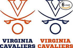 Amazon Com Gstar Virginia Cavaliers Cornhole Decals 6 Cornhole Decals With Circles 2 Free Window Decals Sports Outdoors