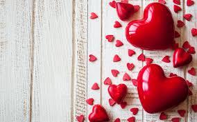 تحميل خلفيات قلوب خلفية خشبية قلب أحمر رومانسية يوم عيد الحب