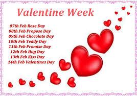 valentine week list dates schedule full list th th