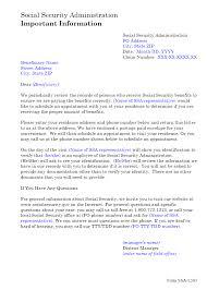 ssa l505 residence address