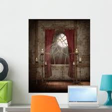 Amazon Com Wallmonkeys Gothic Scenery 34 Wall Decal Peel And Stick Graphic Wm223492 24 In H X 20 In W Home Kitchen