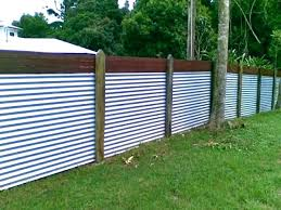 corrugated metal privacy fence sheet