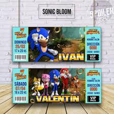 Invitaciones Tarjetas De Cumpleanos Sonic Boom 6 00 En