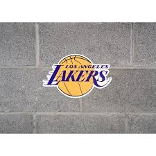 Applied Icon Nba Los Angeles Lakers Outdoor Logo Graphic Small Nbop1401 The Home Depot