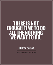 there is not enough time to do all the nothing we want to do