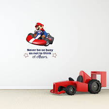 So Busy Mario Kart Game Life Quote Cartoon Quotes Decors Wall Sticker Art Design Decal For Girls Boys Kids Room Bedroom Nursery Kindergarten Home Decor Stickers Wall Art Vinyl Decoration 40x40 Inch