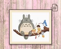 Totoro Wall Decal Etsy