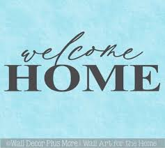 Welcome Home Decor Wall Decal Sticker Front Door Entry Porch Word Art