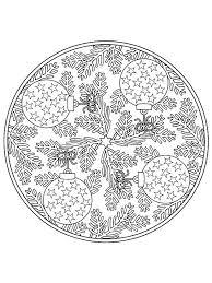 Coloring Page Mandala Christmas Mandala Christmas Mandala