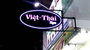 Biển hộp đèn led viền sao băng rất lung linh _ Việt Thái Spa - YouTube