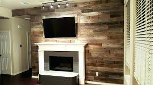 wood accent wall electric fireplace
