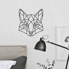 Fox Wall Decal Kids Rooms Geometric Fox Head Sticker Bedroom Removable Polygon Shape Animal Decals Mural Animal Tattoo D729 Wall Stickers Aliexpress