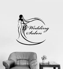 Vinyl Wall Decal Wedding Dress Salon Logo Signboard Bride Stickers 32 Wallstickers4you